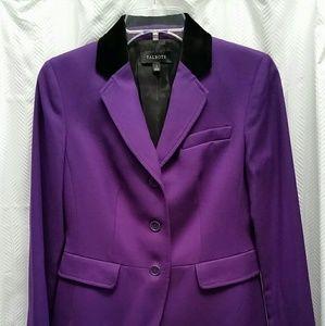 Talbots Purple Wool Flannel Jacket Size 2